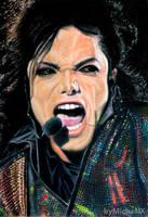 Michael Jackson color pencil by byMichaelX