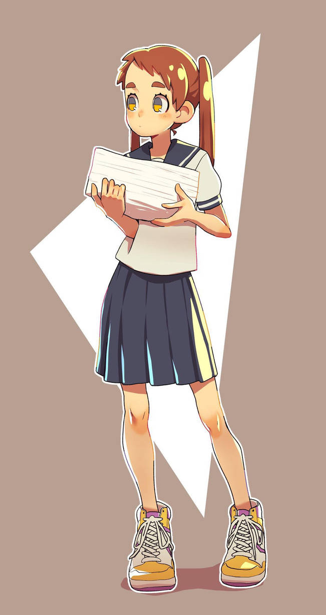 School girl by monionium