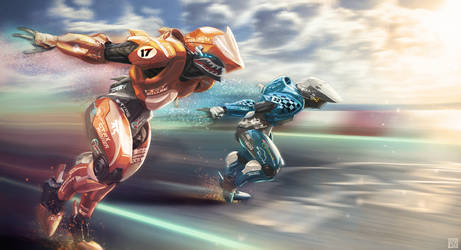 Supersonic Runner by Andrew-Lim