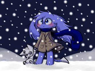 Chami and Patch in the cold by sweirde