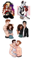 COMMISSIONS: Couples/BFF (halfbody) by HetteMaudit