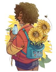 Sunflower girl by HetteMaudit
