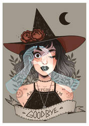 Ouija witch by HetteMaudit