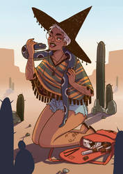 Desert witch by HetteMaudit