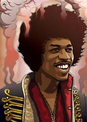 Hendrix by Alphonse-art