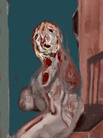 Painting Ghosts 6 (Observing Pain) by TheDreadfulPencil