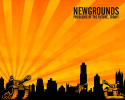 Newgrounds Wallpaper by QuikFox