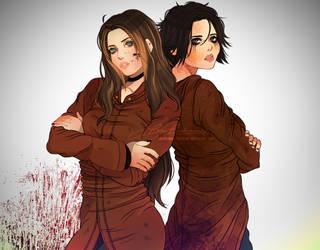 Sophia and Amanda. Version 2 by LoraLindemann