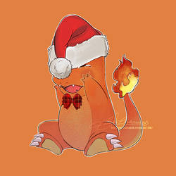 Christmas Charmander by LoraLindemann
