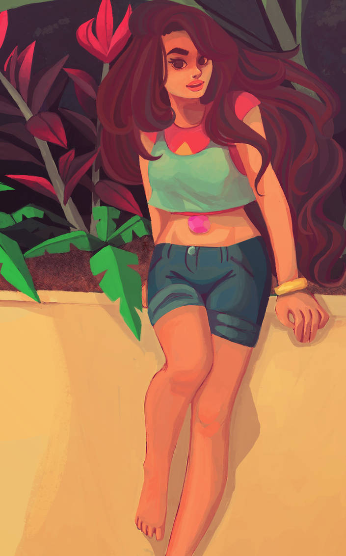 Jesus talk about a character coming out looking nothing like the original lol oh well. I didn't realize that Stevonnie was technically genderless until I was halfway done with the painting :/ So I ...