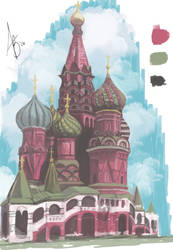 Saint Basil's  - Sketchbook by Skye-Bird