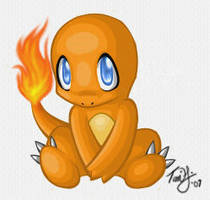 Innocent Charmander by cannibalqueen