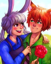 Nick and Judy by Kaywinnit