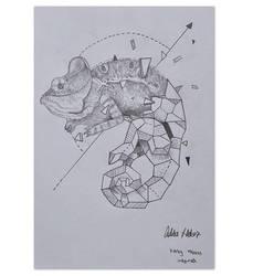 Geometric chameleon by addiehebert
