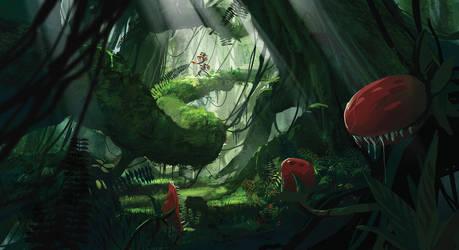 blackhole Jungle concept art by raddick11