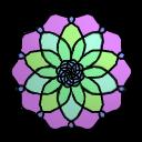 Stained Glass flower 2 (ftu) by cuppycakekitty