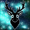 Space deer icon by cuppycakekitty