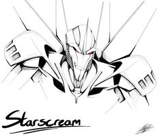 Starscream sketch by BlueStripedRenulian