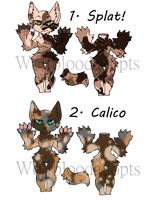 {Closed} PRICE REDUCED Anthro Kitties by WolfBloodAdopts
