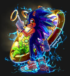 Sonic, but like he's a furry. by Survivalstep