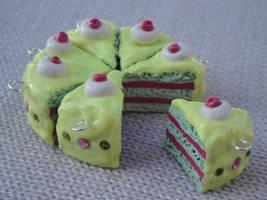 Jazzy Cherry-Pistachio Cake by vertabella