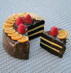 Choco Orange-berry Cake by vertabella
