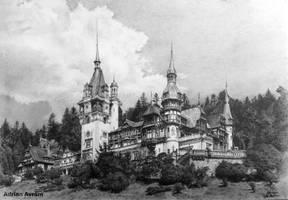 Peles Castle drawing by AATheOne
