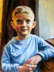 Pastel Portrait Boy by AATheOne