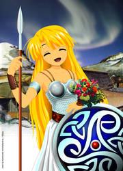 Viking Shield Maiden by Trackdancer