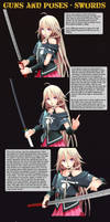 MMD Guns+Poses - Swords by Trackdancer