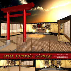 MMD Oni Court Stage by Trackdancer