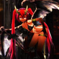 MMD Lucky Devil Miku by Trackdancer