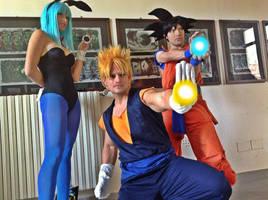 Vegeth Goku Bulma by PincaIoIda