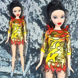 Custom Katy Perry Super Bowl doll by PinkUnicornPrincess
