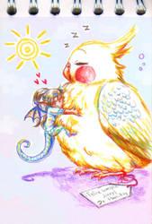 Un pollo gigante by Marii-Pily
