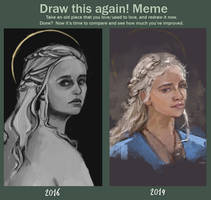 Draw this again or before and after meme by HAUSOFALEX