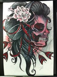dead geisha by lilmrsfrankenstein