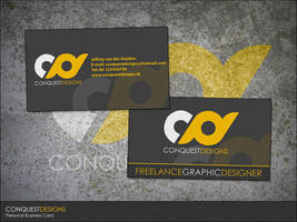 Conquest Designs Business Card by Conquest-Designs