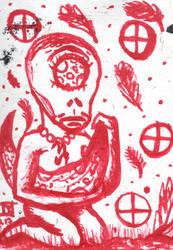 4 Of Tellus (Pentacles) / Inktober 2017 Inspired by inspiringalien