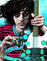 Syd Barrett in the acid sea_2 by ROSENFELDTOWN