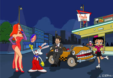 Roger rabbit and friends by JCalcaraz