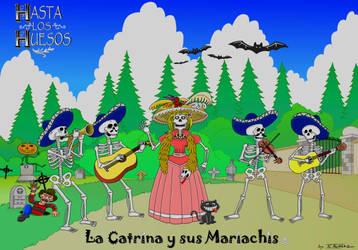 La Catrina y sus mariachis by JCalcaraz