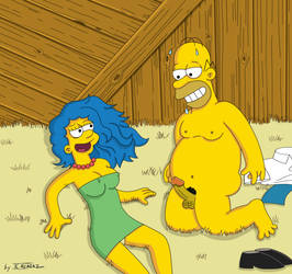Homer and Marge very hot by JCalcaraz