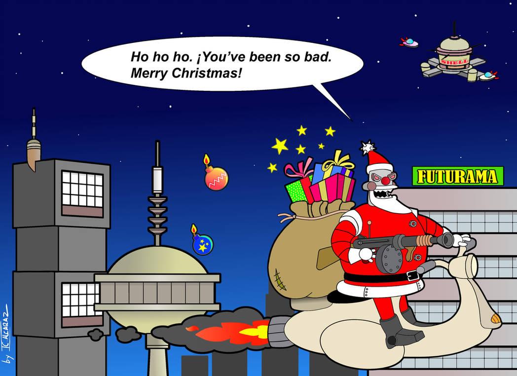 Robot Santa Futurama by JCalcaraz