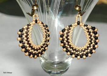 Peacock earrings by craftal