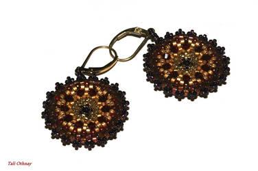 Red earrings by craftal
