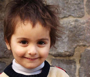 Smile of Firas, from besieged Homs - Syria by promise2smile4ever