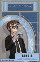 TARDIS Tea Label by AlexisRoyce