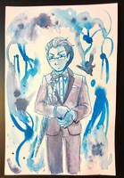 Monochrome - Blue Ink by AlexisRoyce