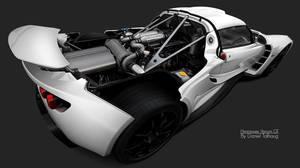 Hennessey Venom GT White by DanielTalhaug